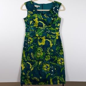 Evan Picone Tropical Print Dress Batik African Wax
